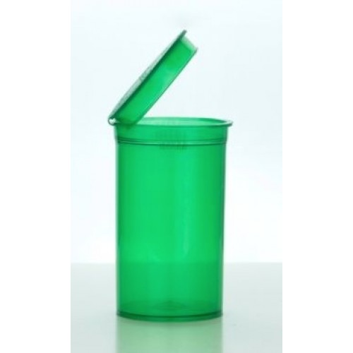 Pop Top Container Vial Green