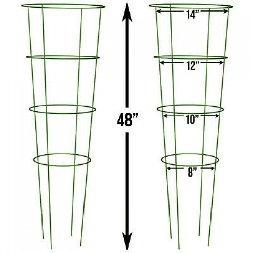4 Ring Plant Support Trellis Cage