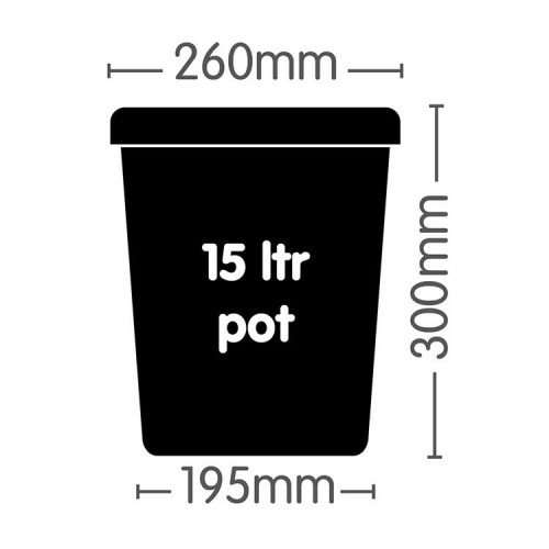 Autopot 15 Litre Pot Square Dimension