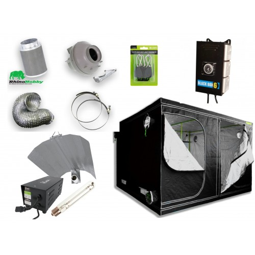 Matrix 2.4m Hobby Starter Grow Tent Kit Group