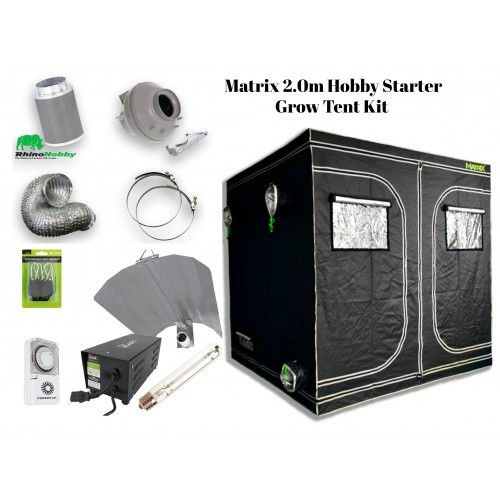 Matrix 2.0m Hobby Grow Tent Kit Group