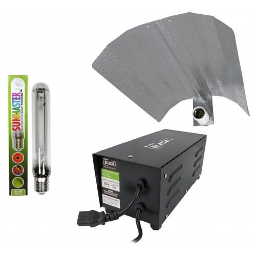 Lumii Black 600w Sunmaster lamp Grow Light Kit