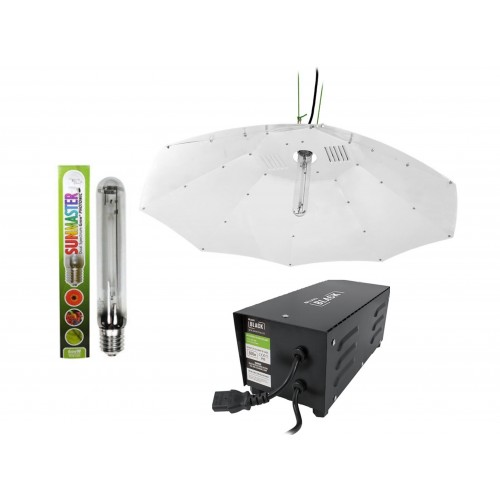Lumii Black 600w Parabolic Sunmaster Light Kit