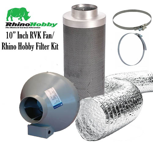 10 Inch Rhino Hobby Filter RVK Fan and Ducting Kit